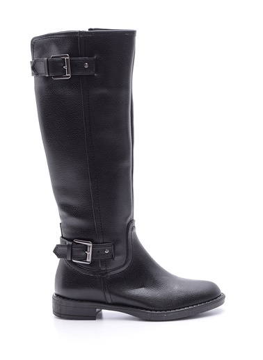 Derimod Toka Detaylı Çizme Siyah